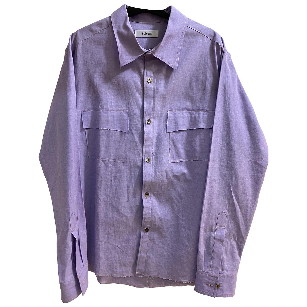 - Chemises   pour homme en coton - violet