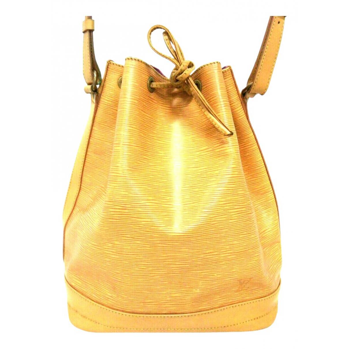 Louis Vuitton - Sac a main Noe pour femme en cuir - jaune