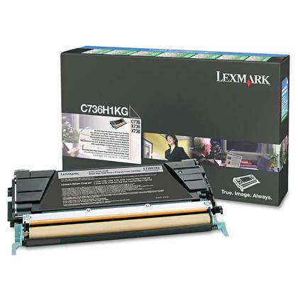 Lexmark C736H1KG cartouche de toner du programme retour originale noire haute capacité