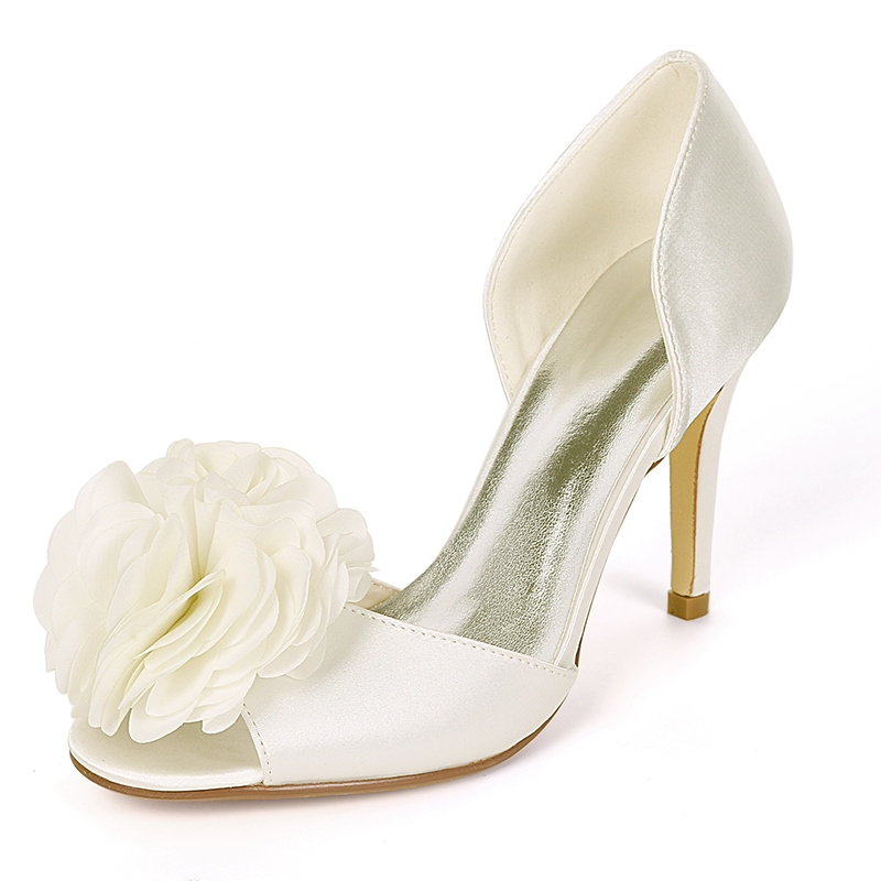 Ericdress Appliques Peep Toe Stiletto Heel Wedding Shoes