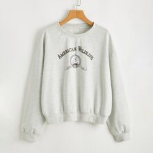 Letter Graphic Sweatshirt