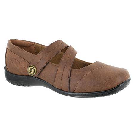Easy Street Womens Mary Slip-On Shoe, 6 1/2 Wide, Brown