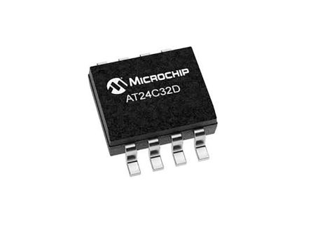 Microchip AT24C32D-SSHM-T EEPROM Memory Chip, 550ns 8-Pin SOIC-8 (4000)