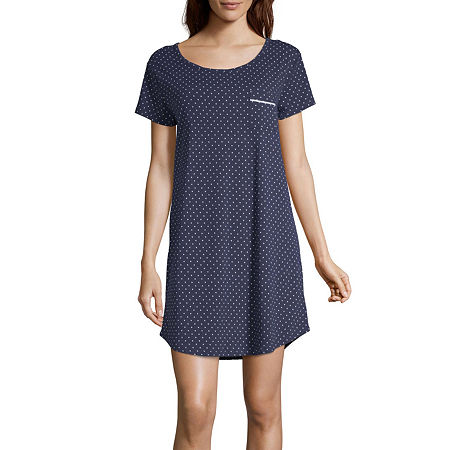 Liz Claiborne Essential Knit Nightshirt, Small , Blue