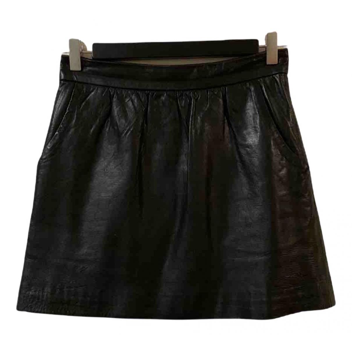 Tibi - Jupe   pour femme en cuir - noir