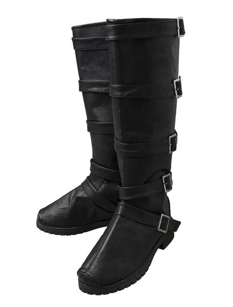 Milanoo Injustice League DC Comics Batman Harley Quinn Black Cosplay Boots Halloween