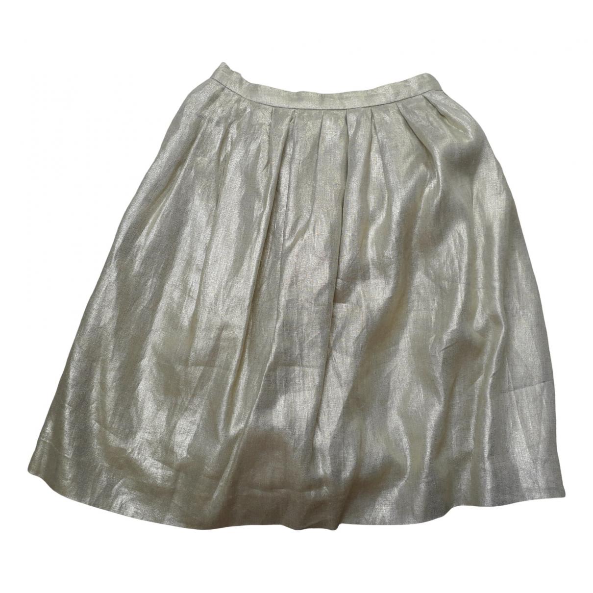 Bonpoint \N Gold Linen skirt for Kids 12 years - XS FR