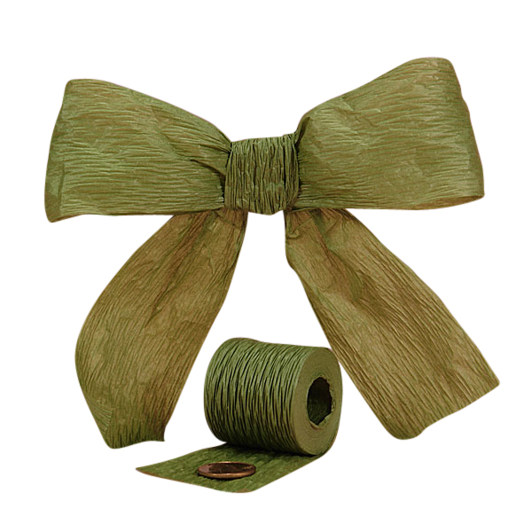 Cord 1 1/2 X 25 Yards Olive Bella Paper Ribbon by Ribbons.com
