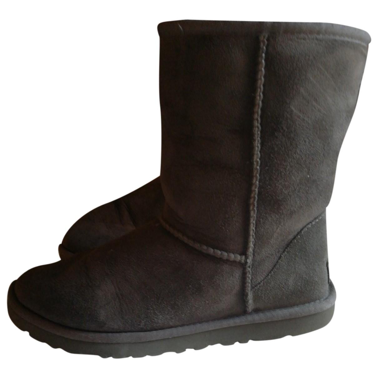 Ugg - Boots   pour femme en cuir - gris