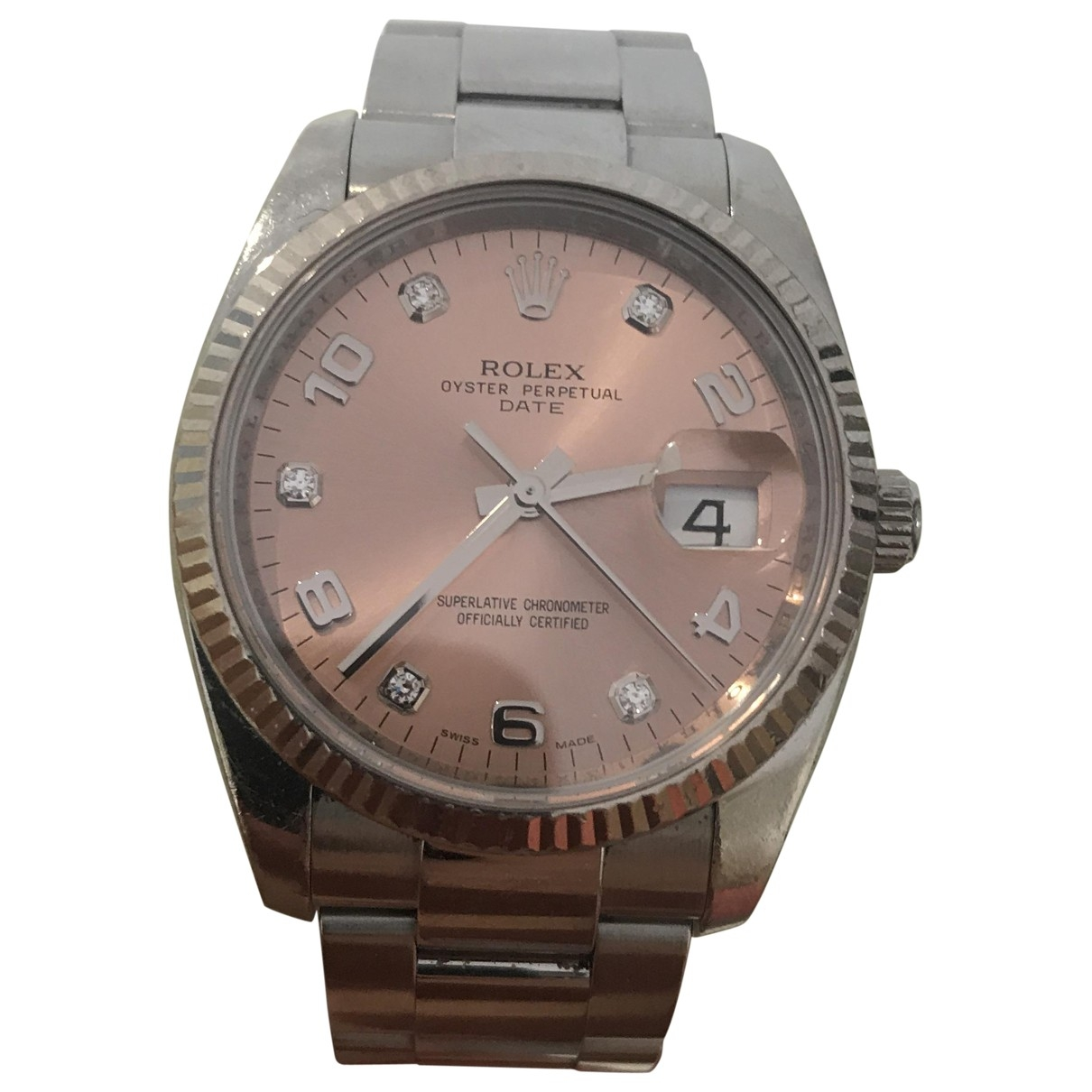 Rolex Oyster Perpetual 36mm Uhr in  Rosa Stahl