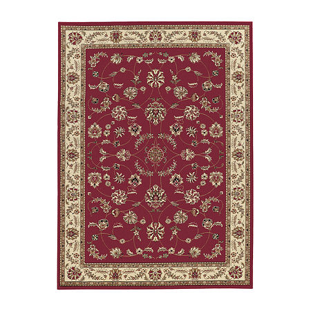 Como Intricate Traditional Oriental Area Rug, One Size , Red