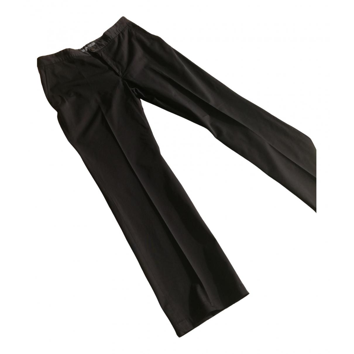Karl Lagerfeld N Black Cotton Trousers for Men XL International