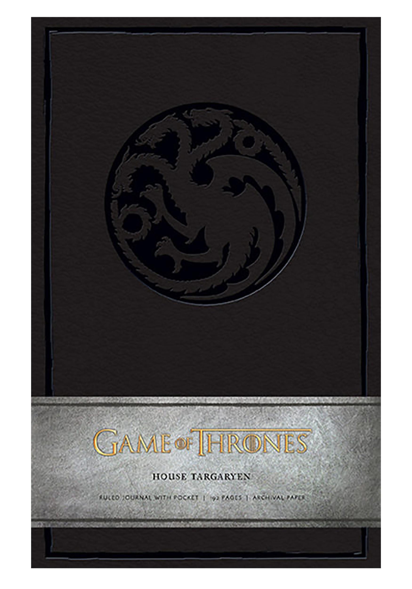 Hardcover Ruled Journal Game of Thrones House Targaryen