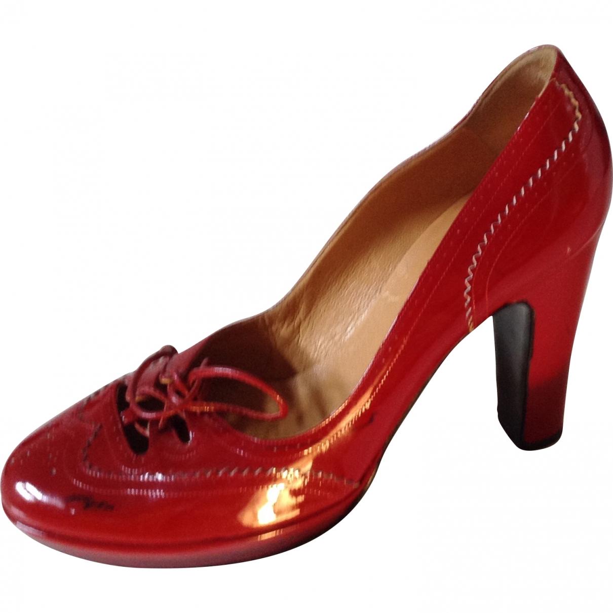 Hermes - Escarpins   pour femme en cuir - rouge