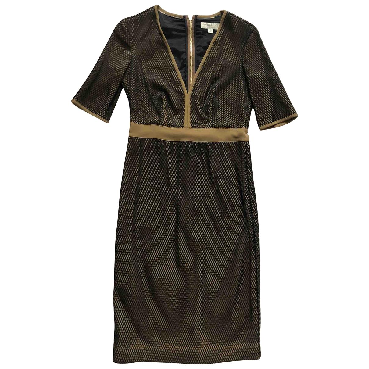 Burberry - Robe   pour femme en soie - marron