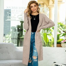 Open Front Dual Pocket Cardigan
