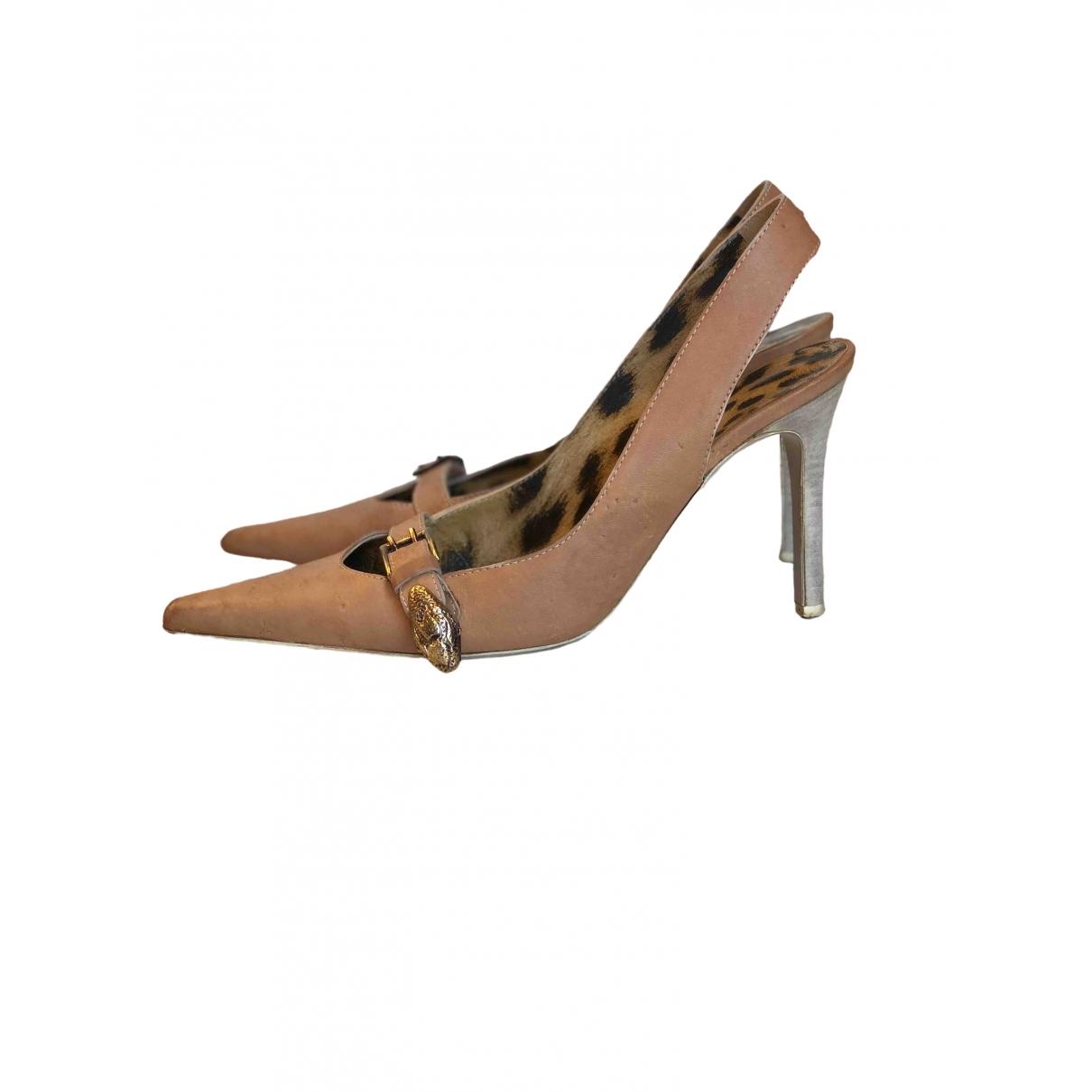 Roberto Cavalli \N Camel Leather Heels for Women 40 IT