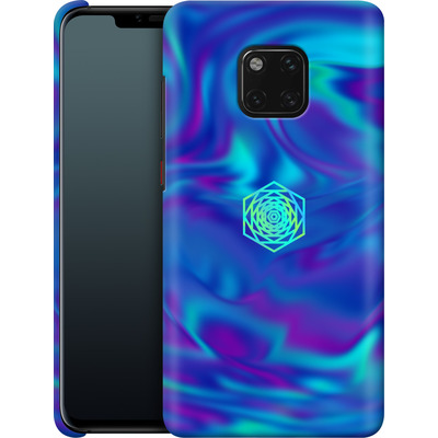 Huawei Mate 20 Pro Smartphone Huelle - PSYCHEDELIC BLUE von Berlin Techno Collective