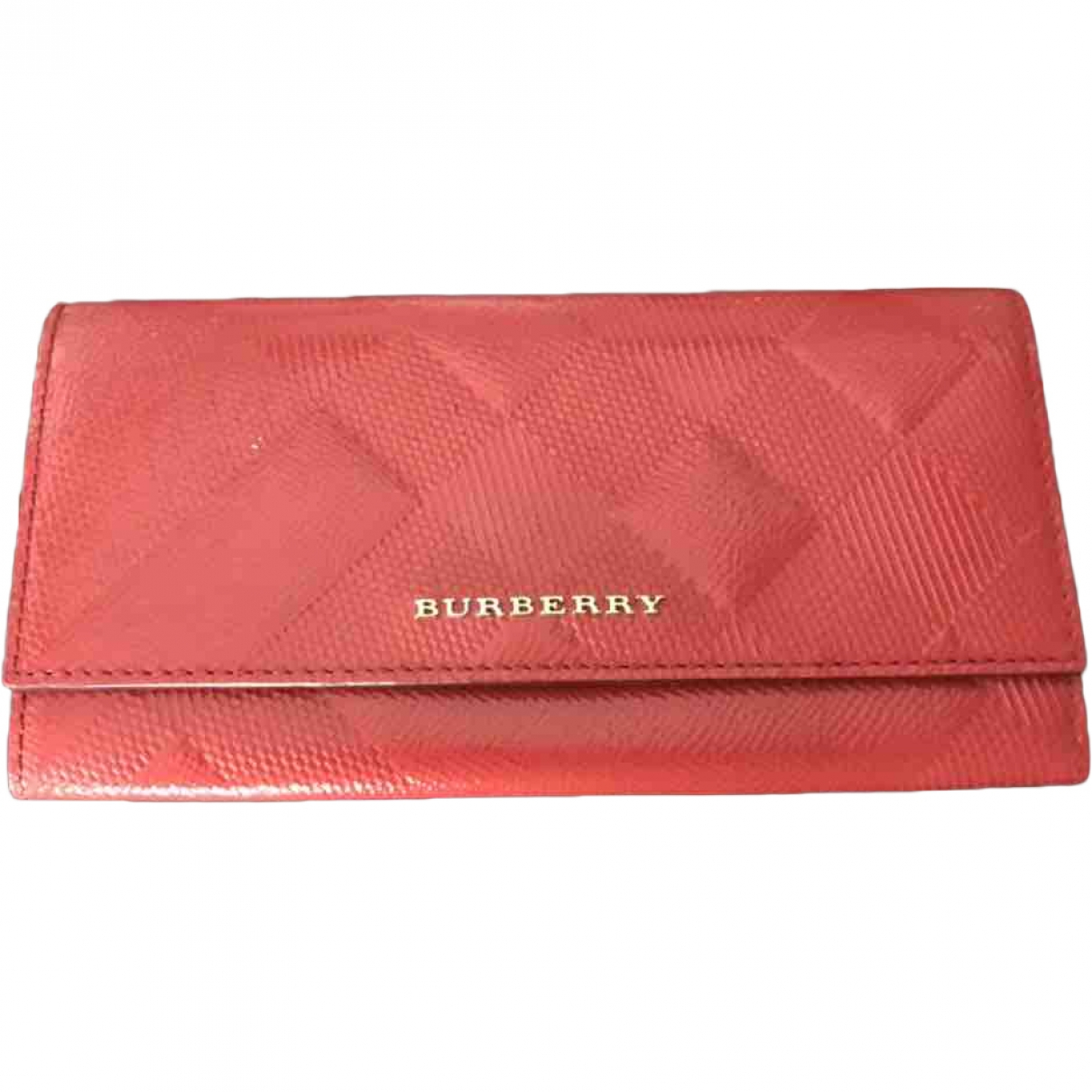 Burberry \N Red Leather wallet for Women \N