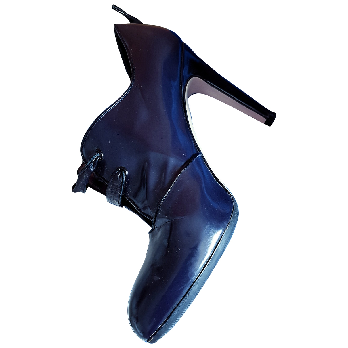 Gianvito Rossi \N Blue Leather Ankle boots for Women 39 EU