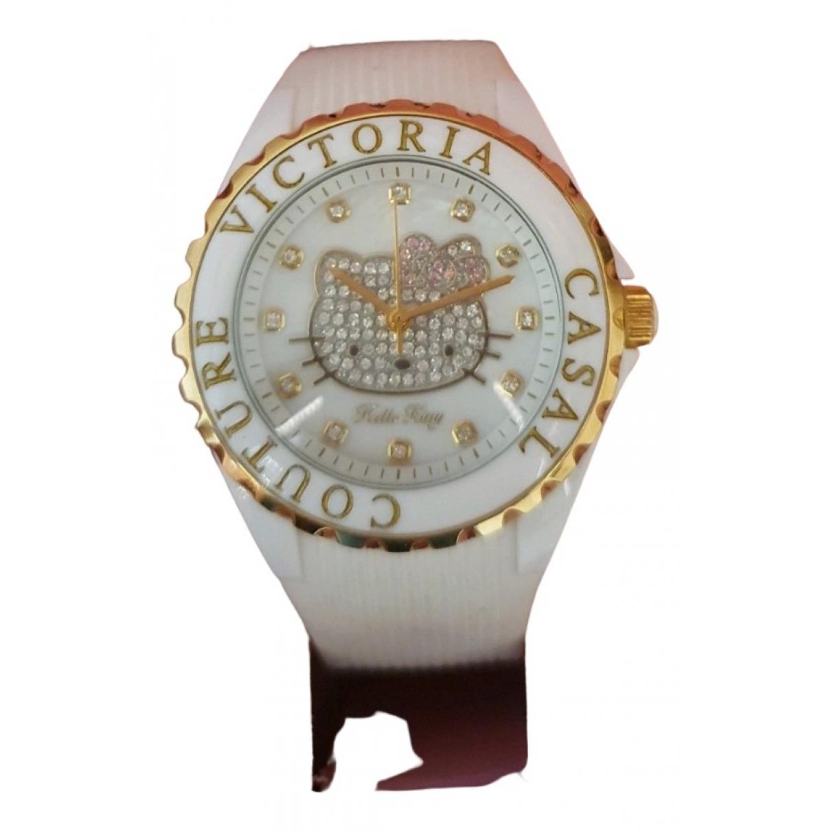 Victoria Casal N White Steel watch for Women N