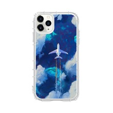 1pc Airplane & Cloud Pattern iPhone Case
