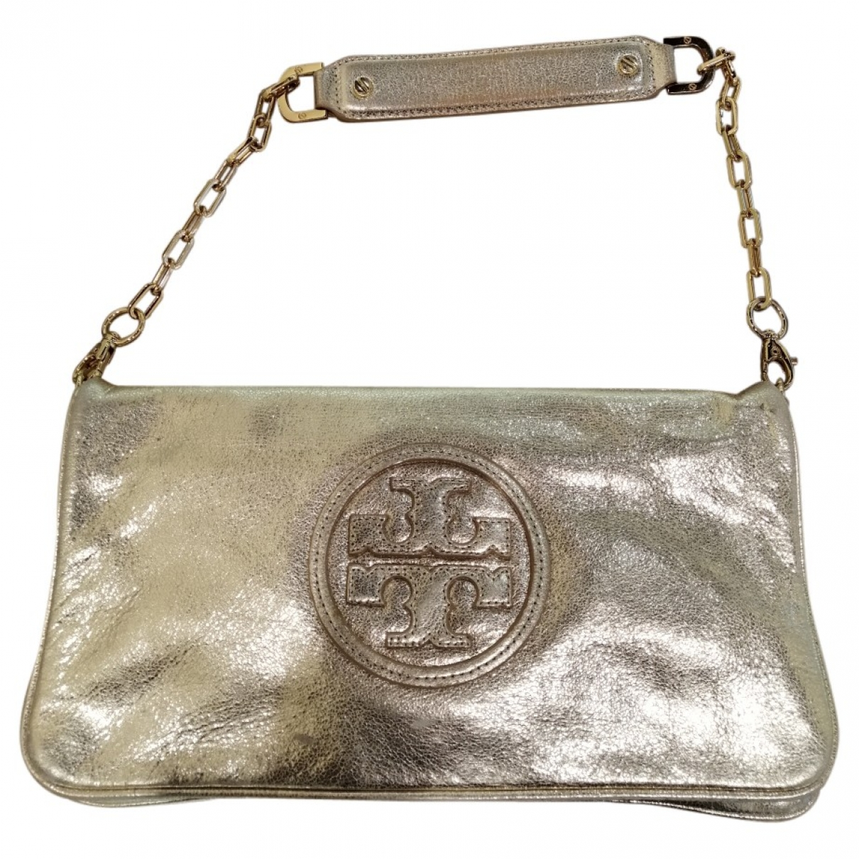 Tory Burch \N Handtasche in  Gold Leder