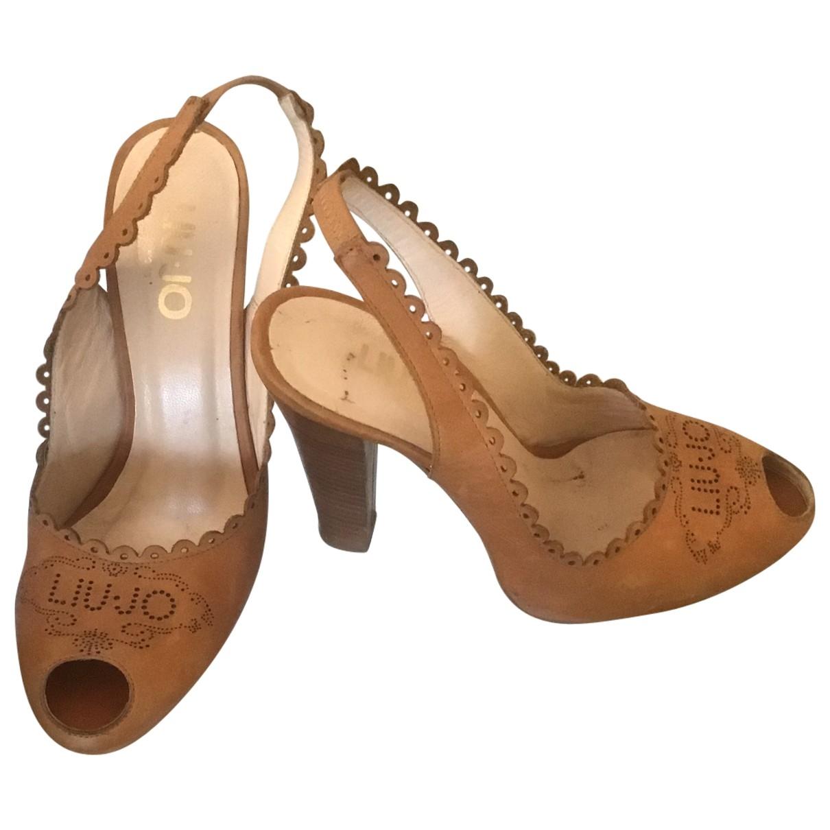 Liu.jo - Sandales   pour femme en cuir - marron