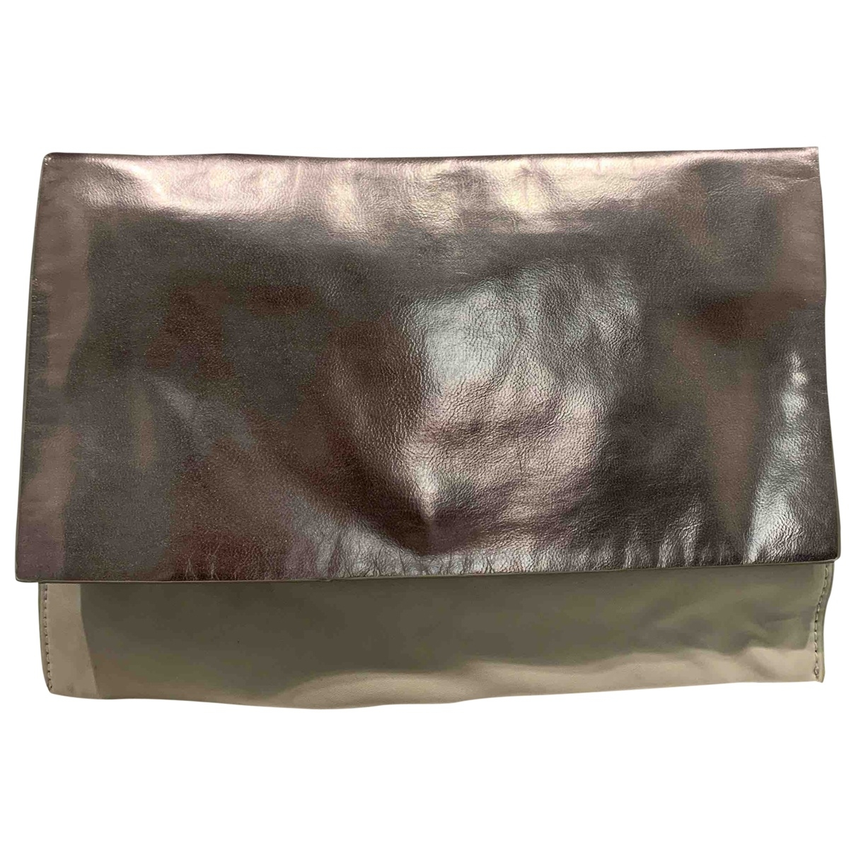 Zara - Pochette   pour femme en cuir - argente