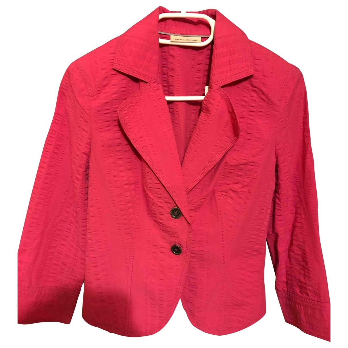 Dkny \N Pink Cotton jacket for Women XS International