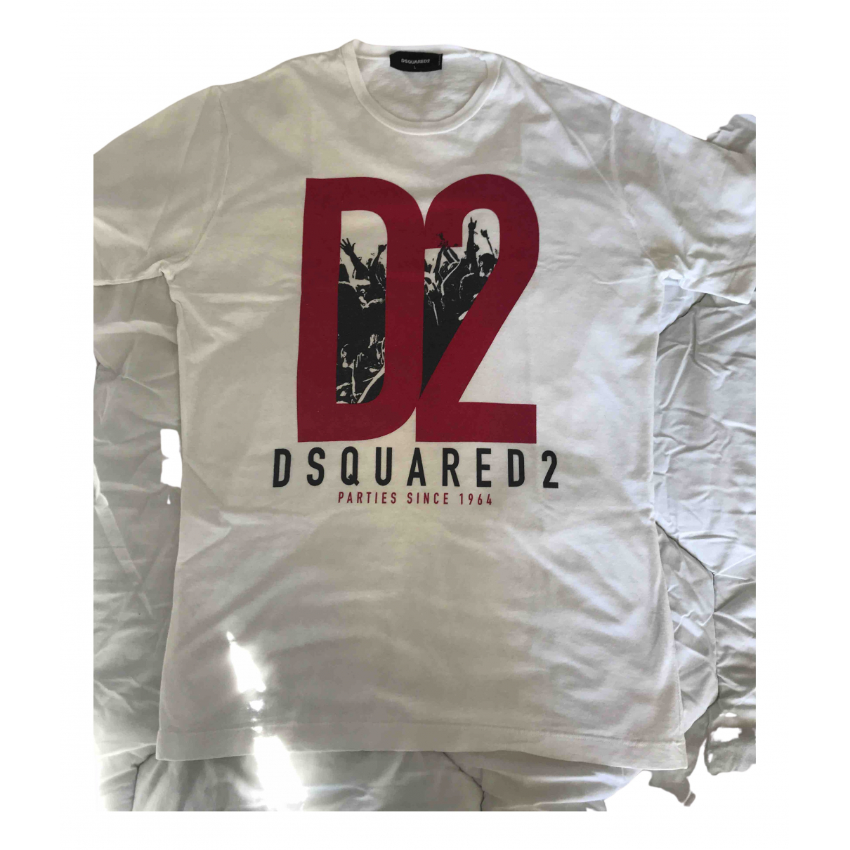 Dsquared2 N White Cotton T-shirts for Men L International