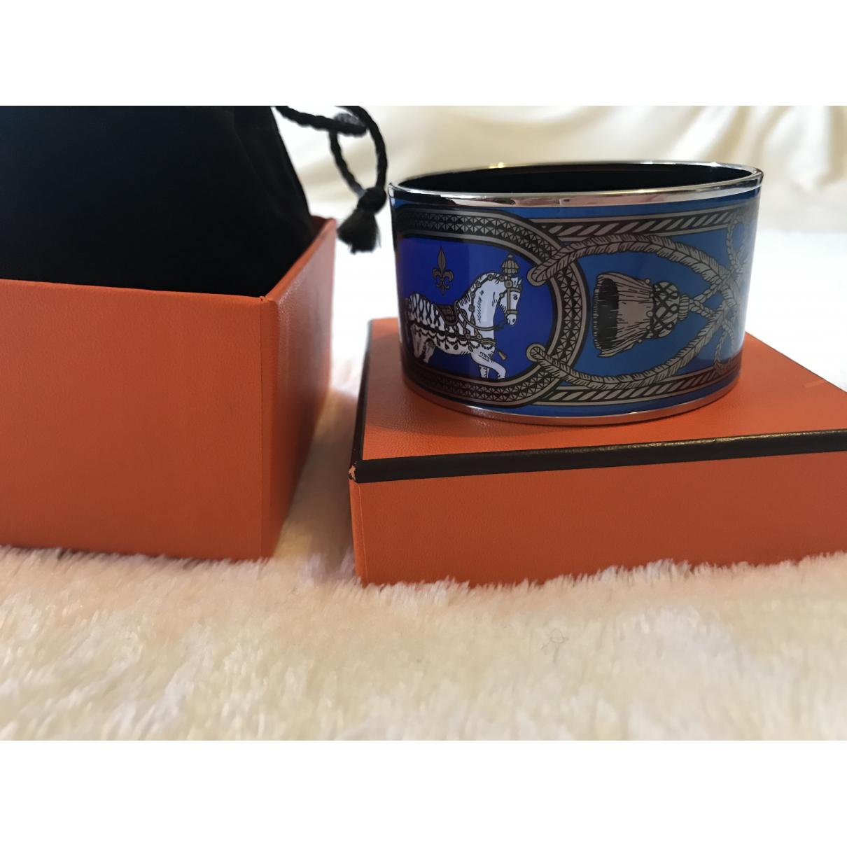 Hermes Bracelet Email Armband in  Blau Metall