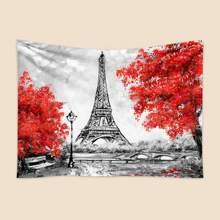 Eiffel Tower Print Tapestry