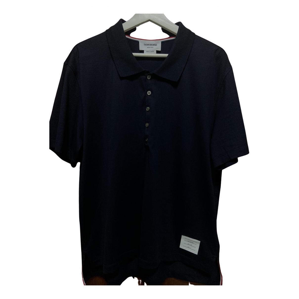 Thom Browne \N Poloshirts in  Marine Baumwolle