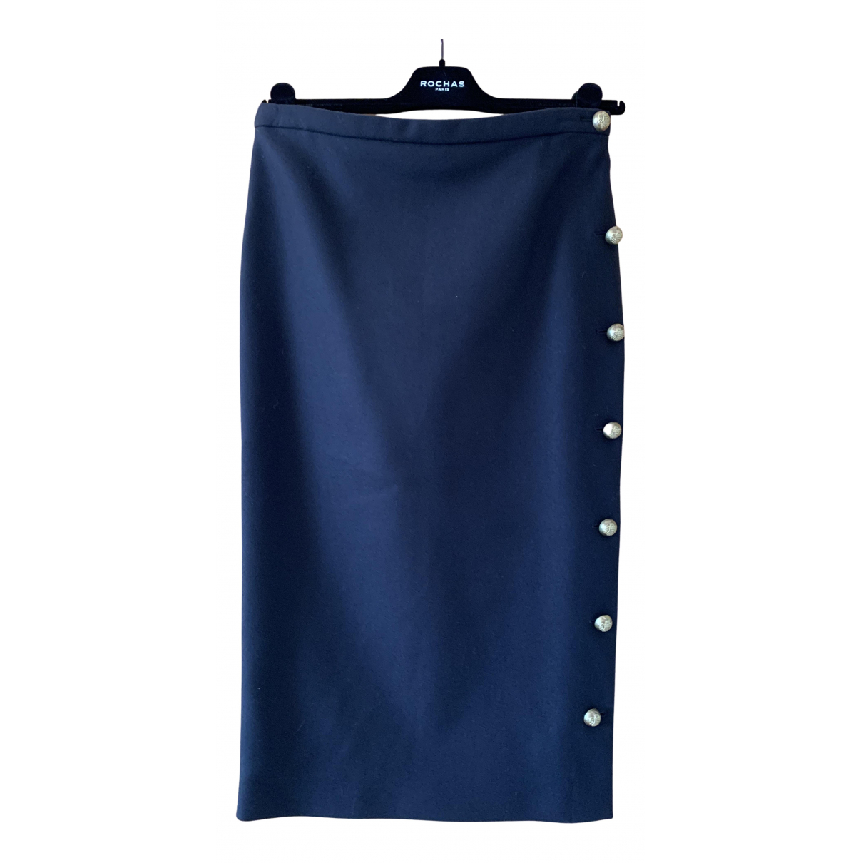 Rochas \N Rocke in  Blau Wolle