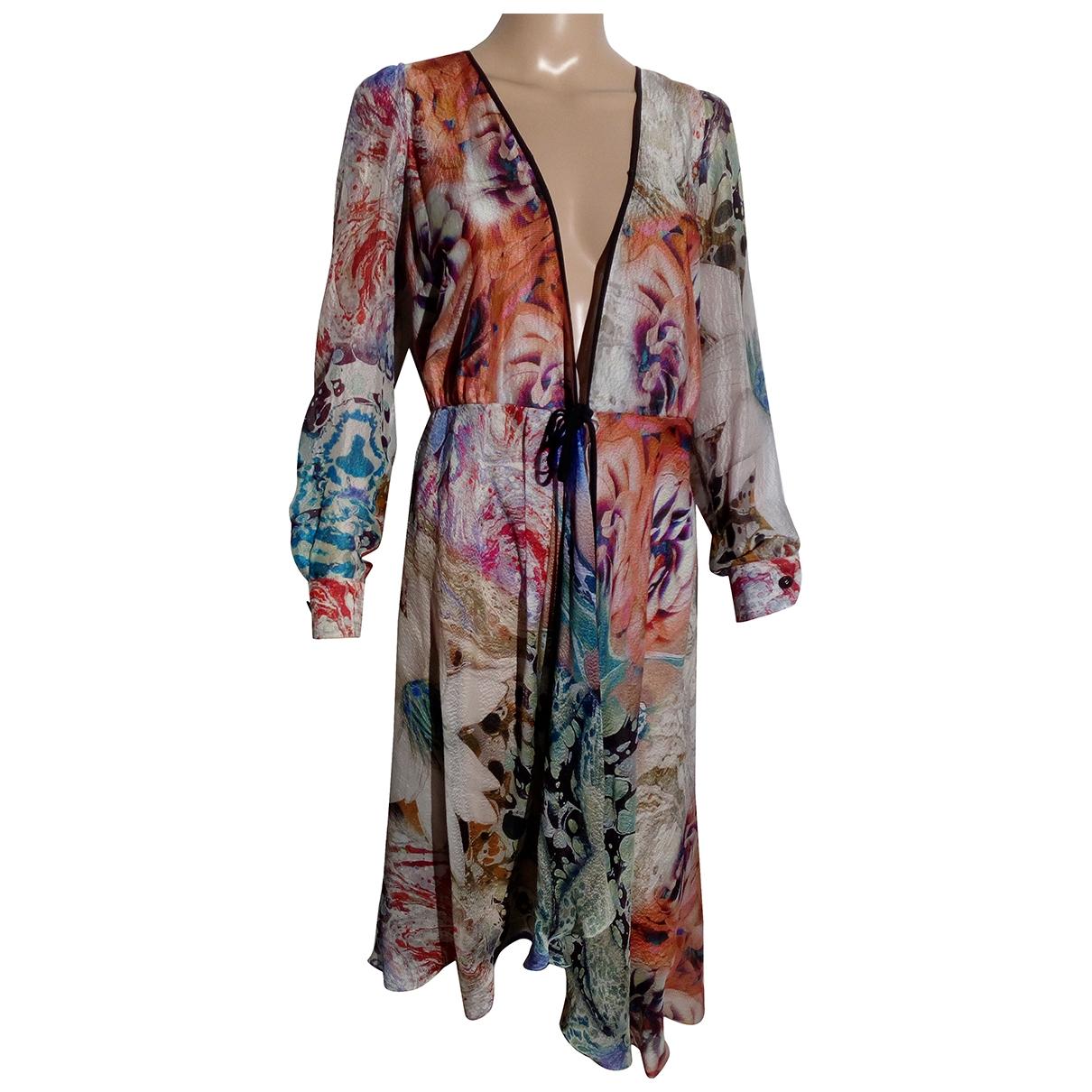 Non Signé / Unsigned \N Beige Silk dress for Women 40 FR