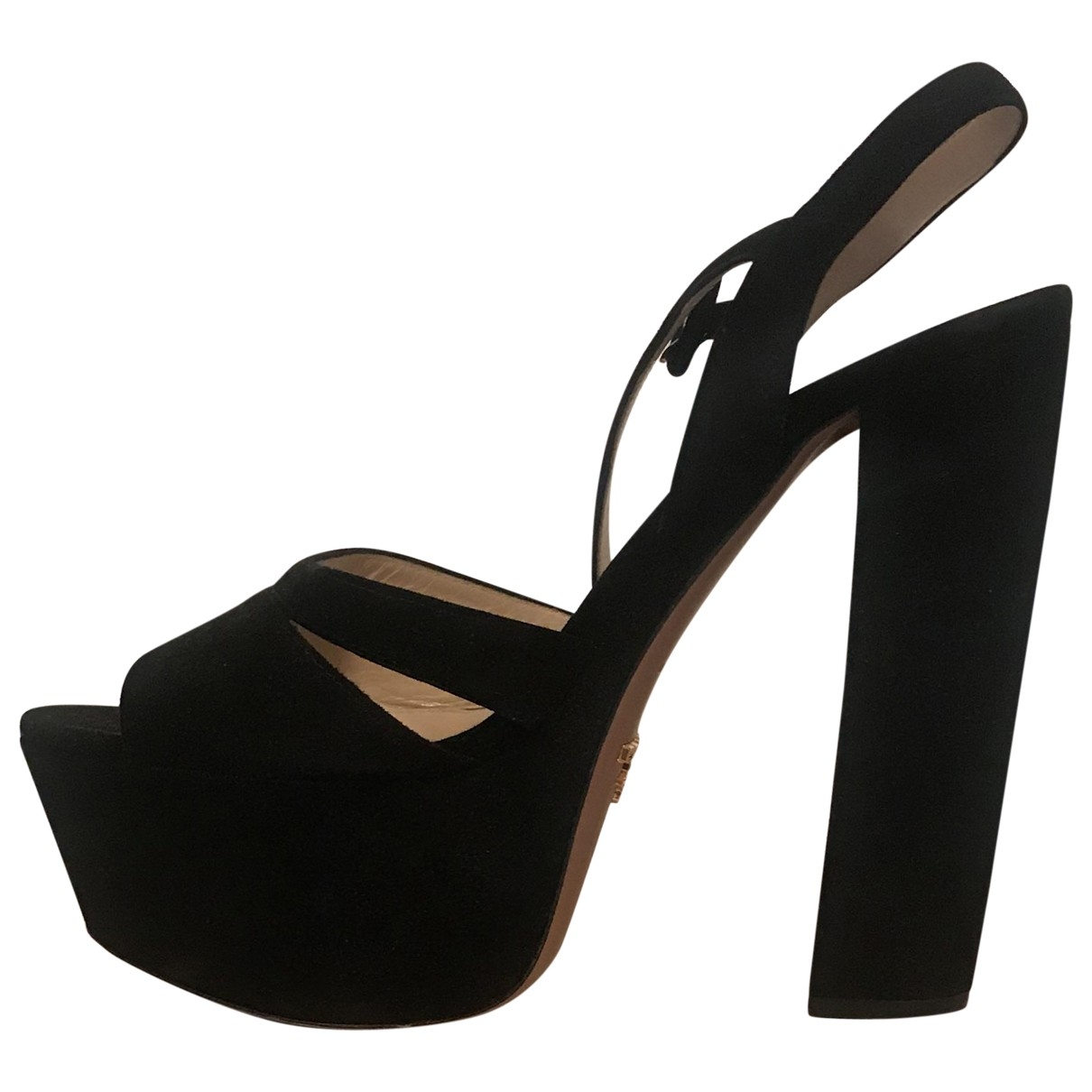 Prada \N Black Suede Heels for Women 38.5 EU