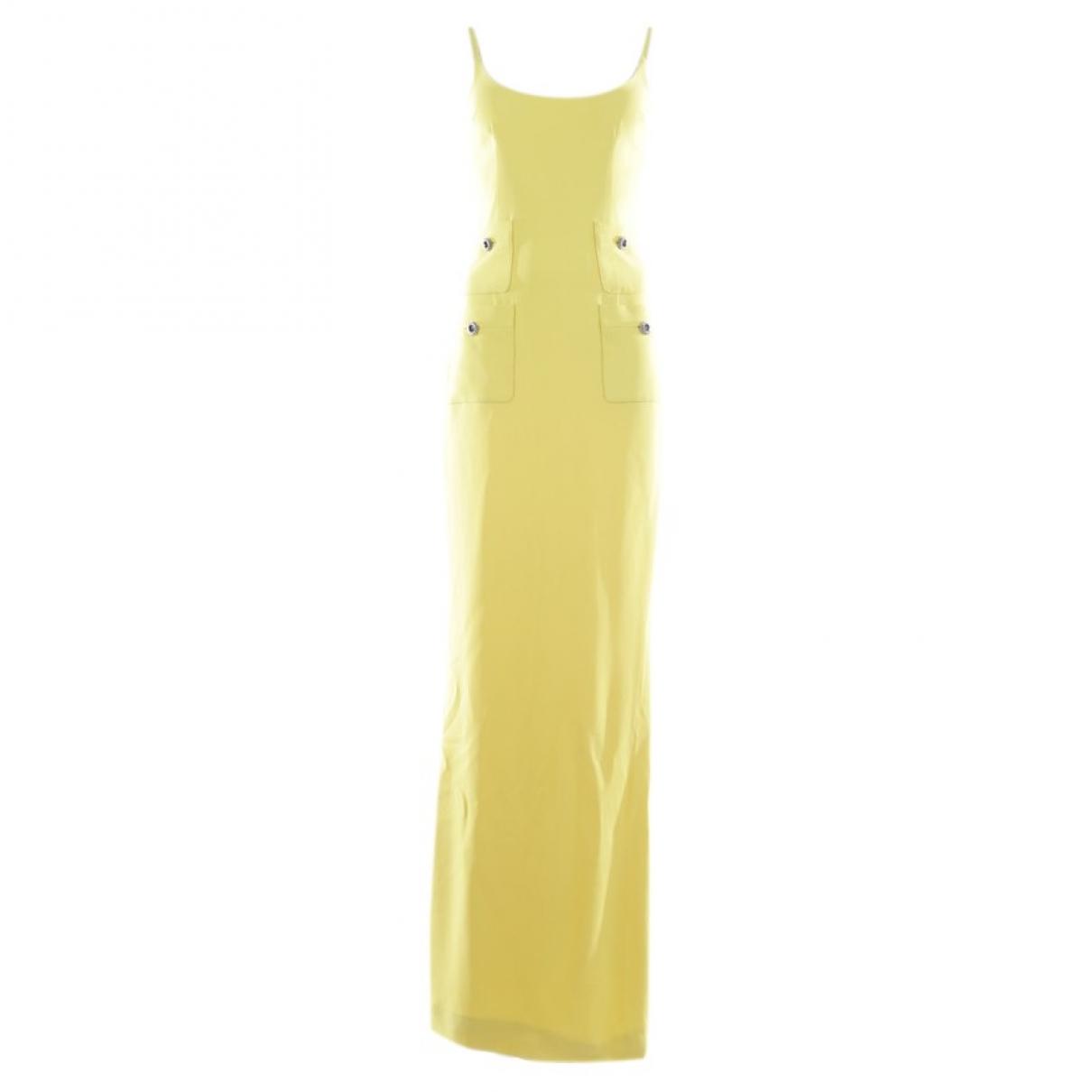 Alessandra Rich \N Kleid in  Gelb Synthetik