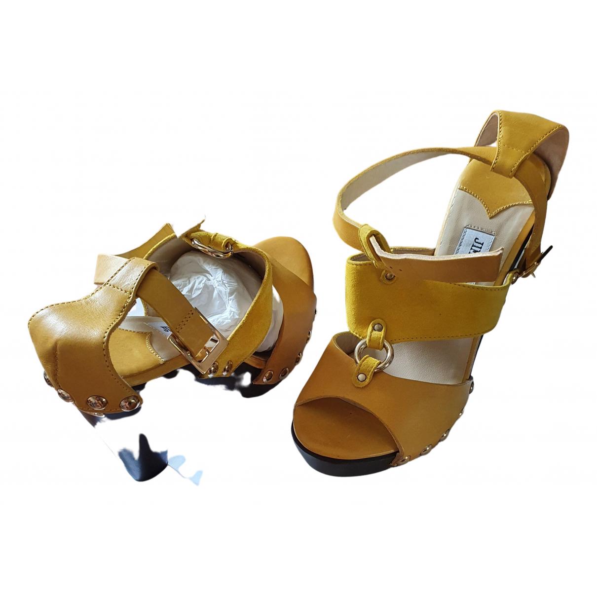 Jimmy Choo \N Sandalen in  Gelb Leder