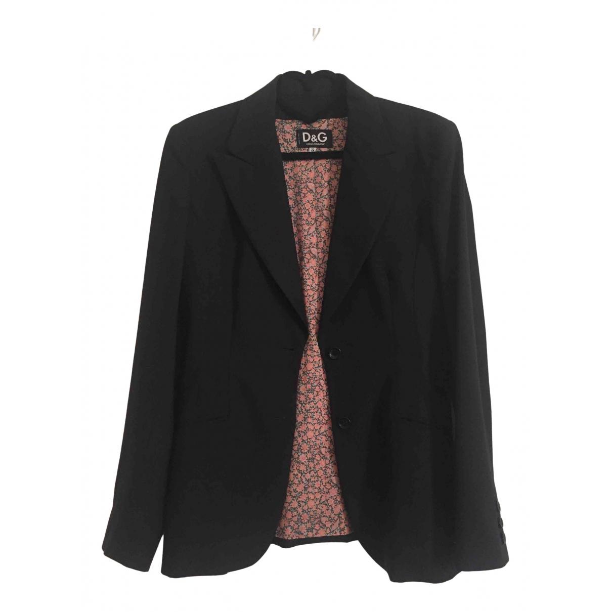 D&g N Black jacket for Women 46 IT