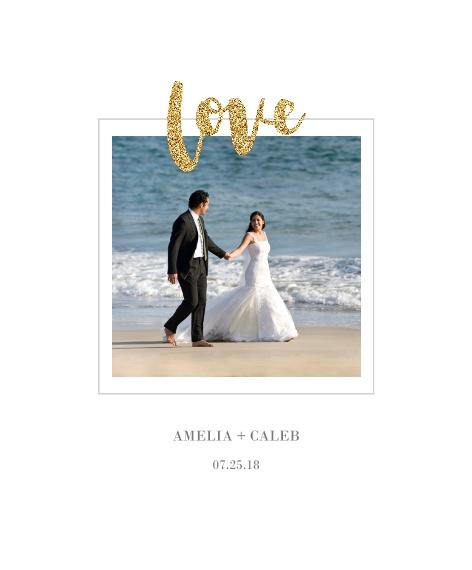 Love Canvas Print, 11x14, Home Décor -Love Glitter