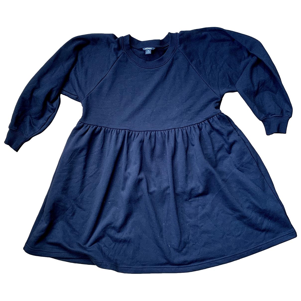 Monki \N Kleid in  Schwarz Baumwolle