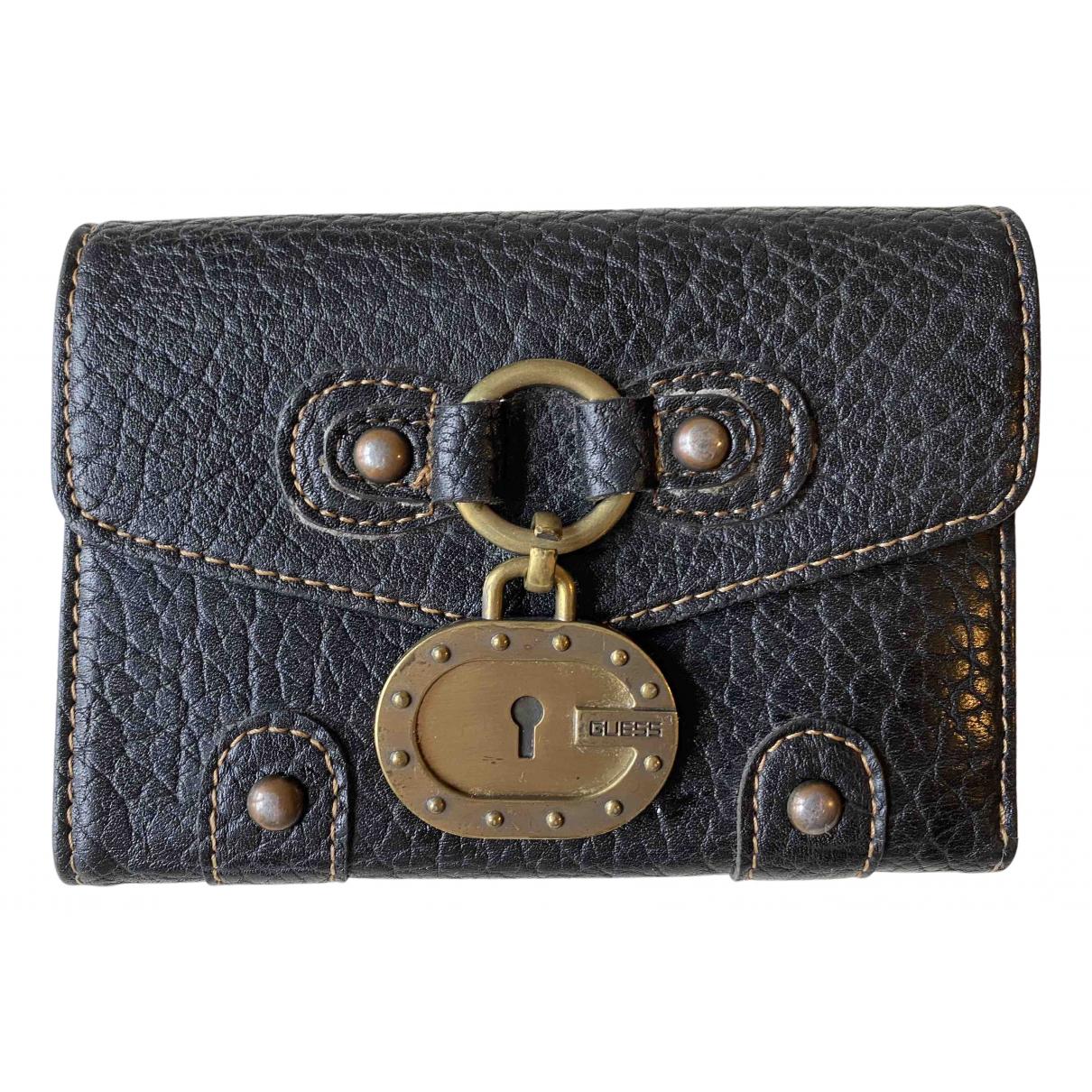 Guess - Portefeuille   pour femme en cuir - noir