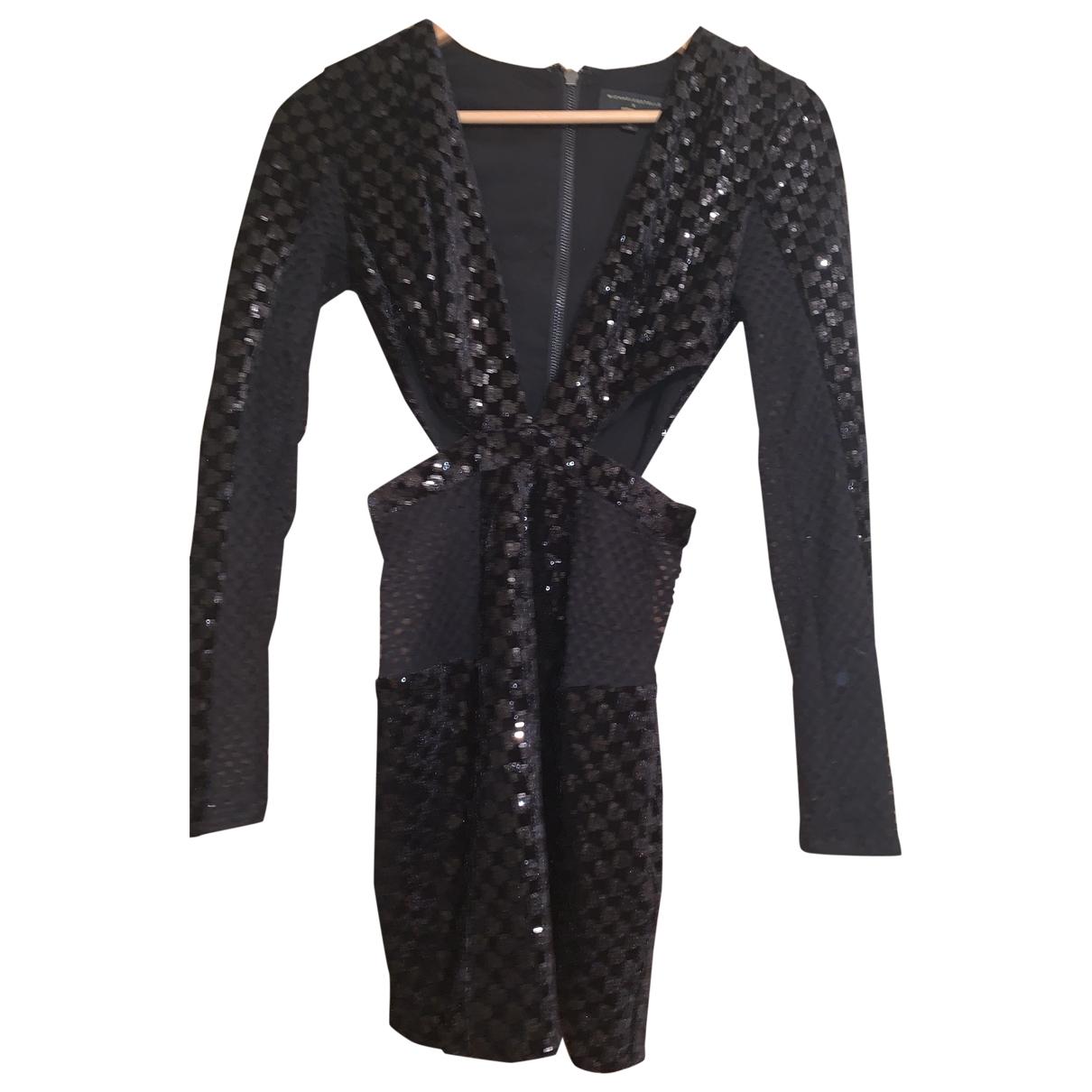Michael Costello - Robe   pour femme en coton - noir