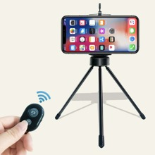 1pc Desktop Mobile Phone Stand Tripod With Remote Control