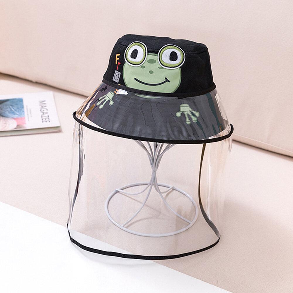 Little Frog Children's Dustproof Fisherman Hat Sun Hat Removable Face Screen