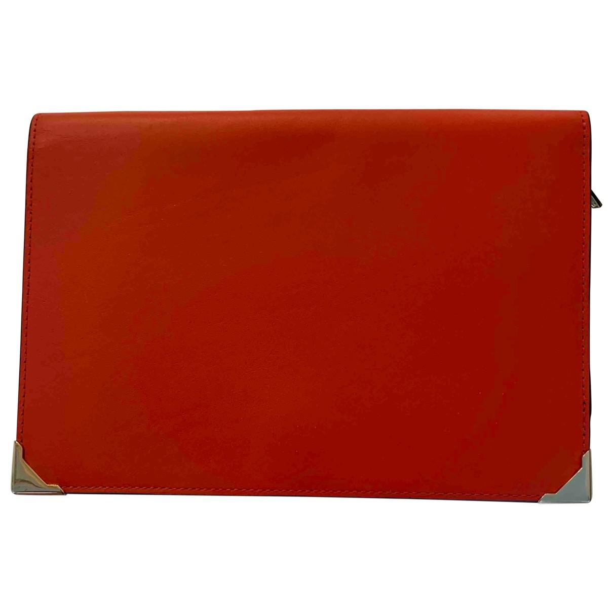 Alexander Wang - Pochette   pour femme en cuir - rouge