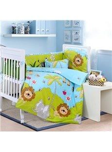 Super Cute Vivid Animals 10-Piece Crib Bedding Sets