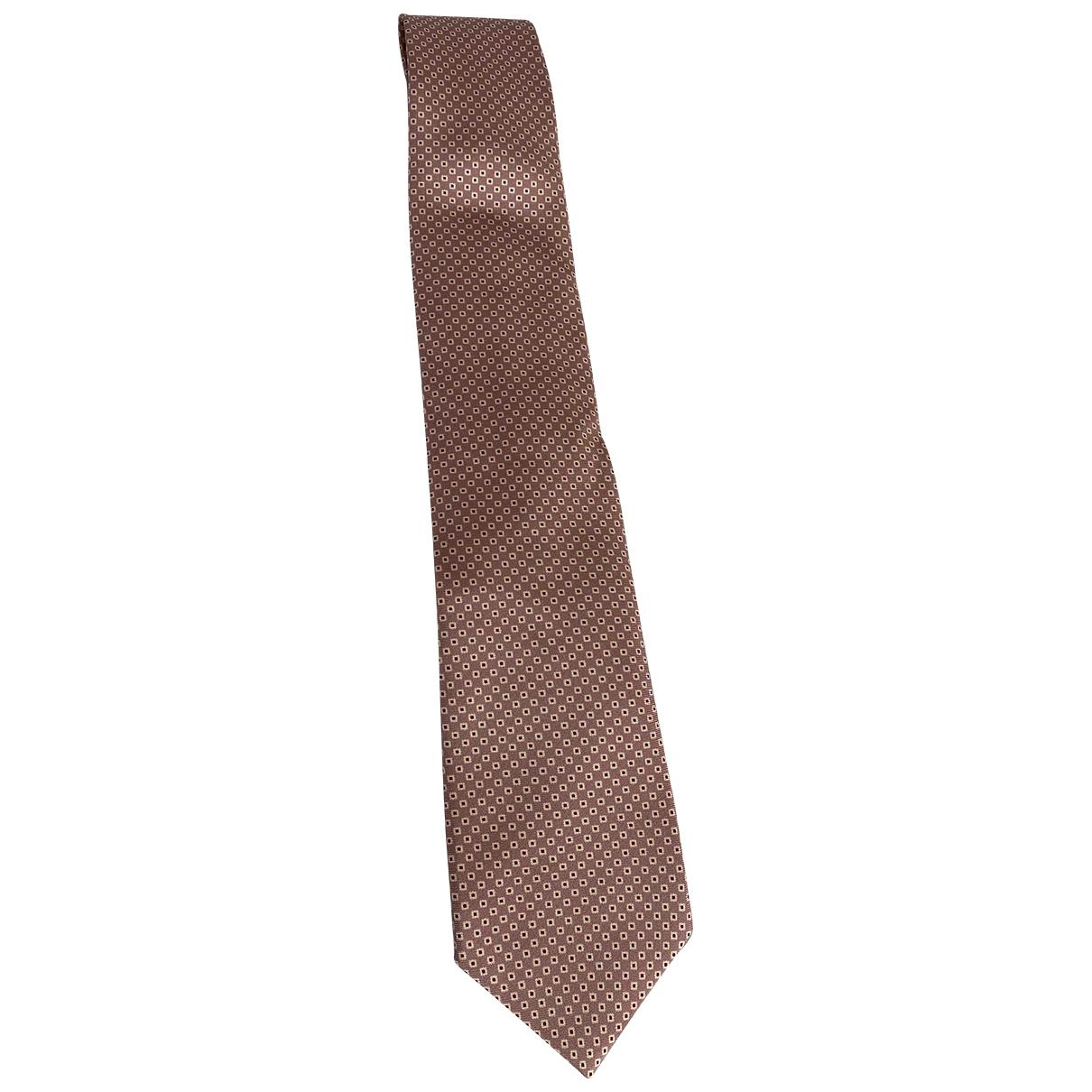 Corneliani \N Krawatten in  Rosa Seide