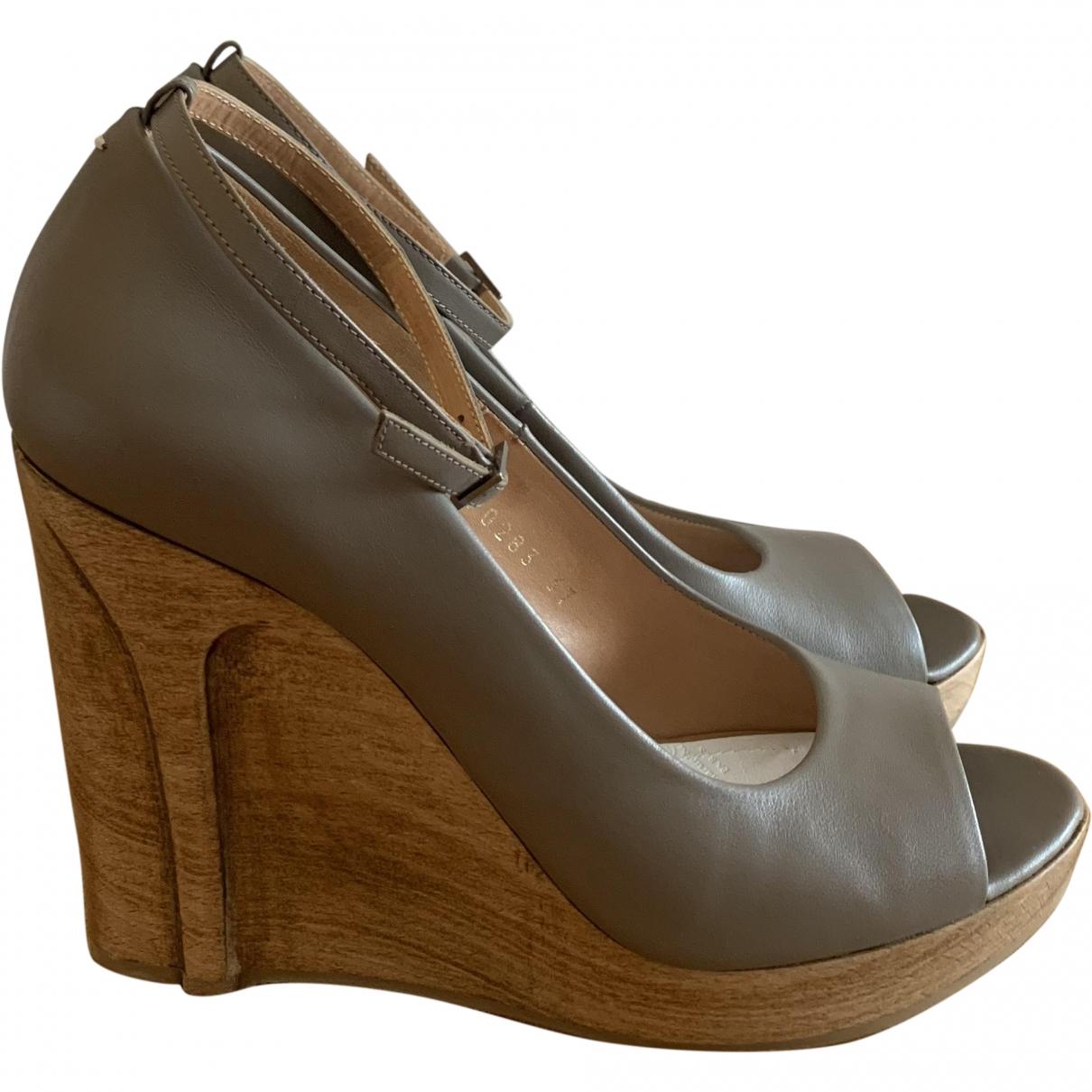 Maison Martin Margiela \N Grey Leather Heels for Women 37 EU